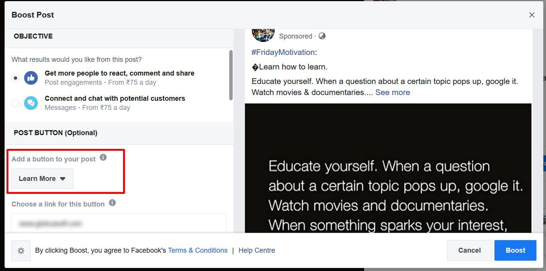 facebook-boost-post-add-button