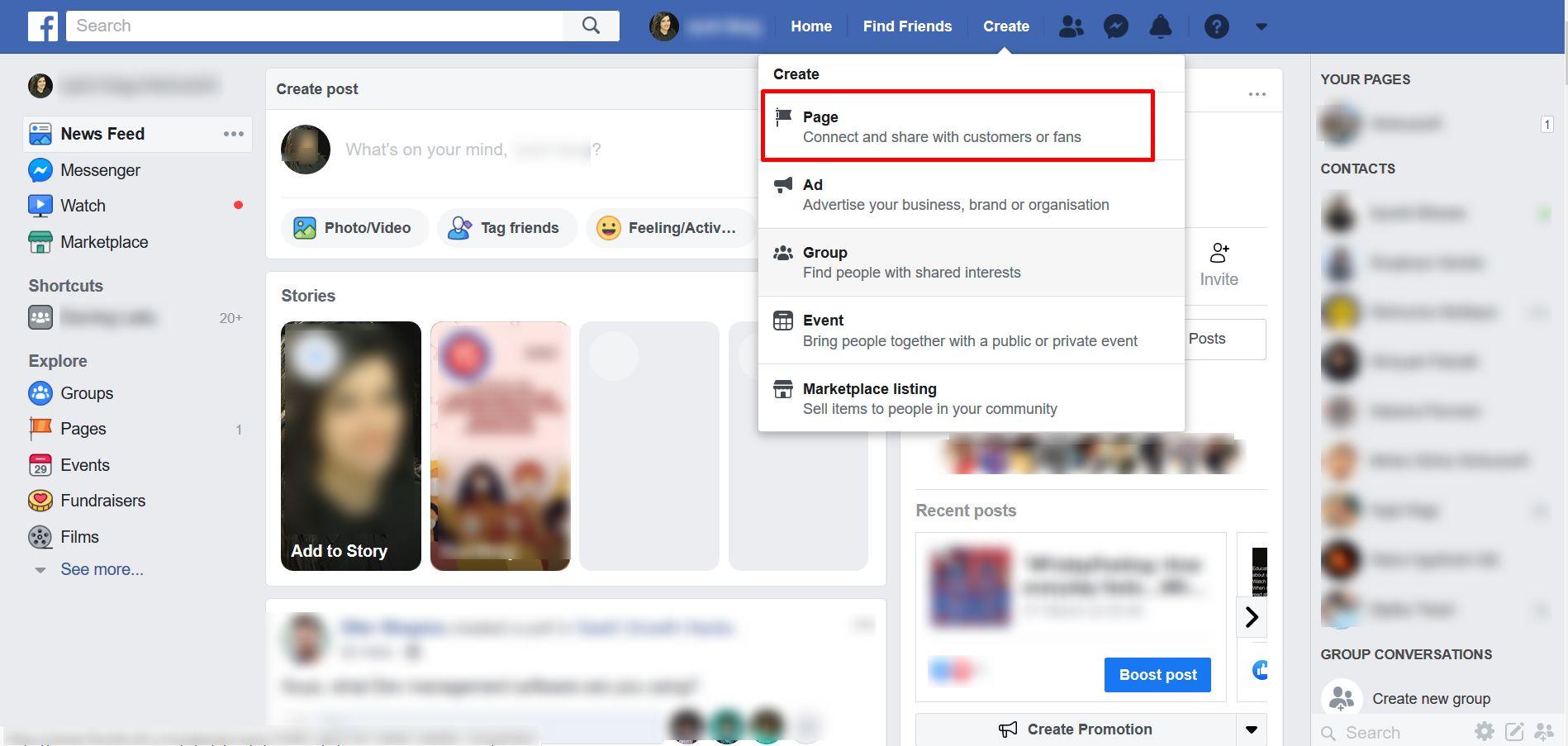 facebook-page-creation